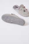 Womens Mule Slippers Bea in Grey
