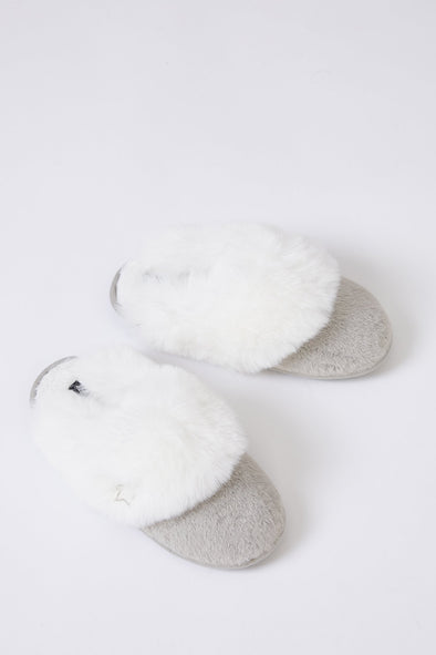 Womens Mule Slippers Beth in Grey