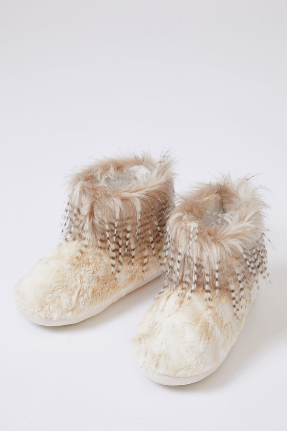 Womens Bootie Slippers Brandi in Champagne