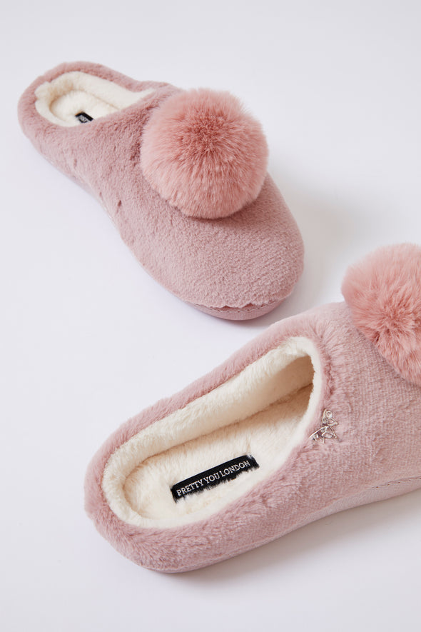 Womens Mule Slippers Clara in Rose
