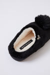 Childrens Mule Slippers Clarese in Black
