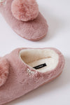Childrens Mule Slippers Clarese in Rose