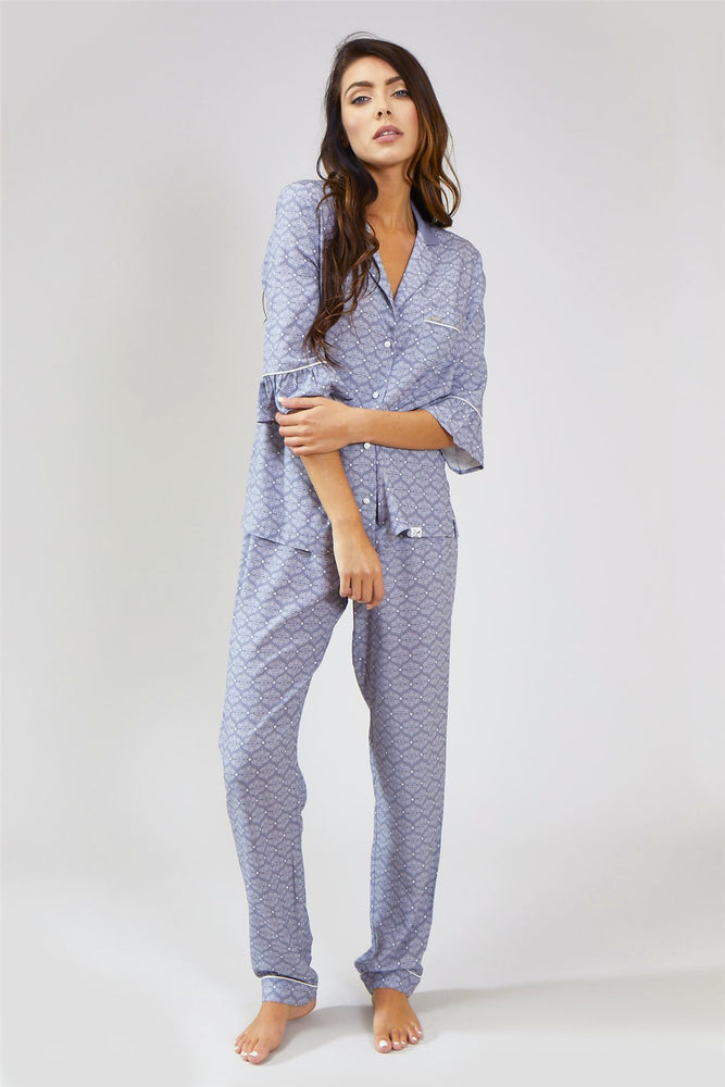 Nightwear Womens Nightwear Blouse - Romance in Grey from Pretty You London