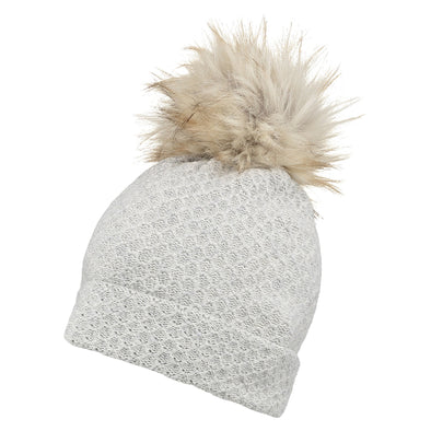 Womens Grey Hat with Giant Pom from Pretty You London – Pretty You ... 49e63dd0518