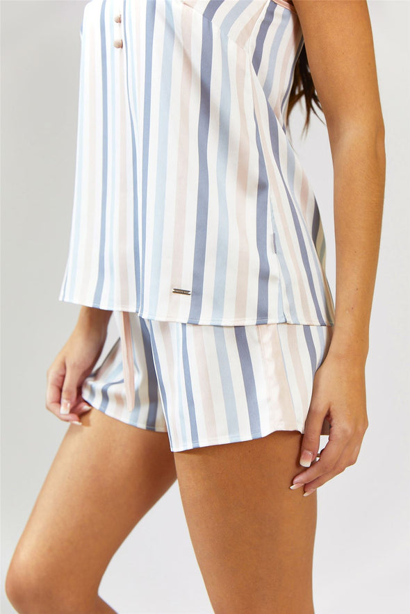 Nightwear Womens Nightwear Shorts - Candy Multi Stripe from Pretty You London