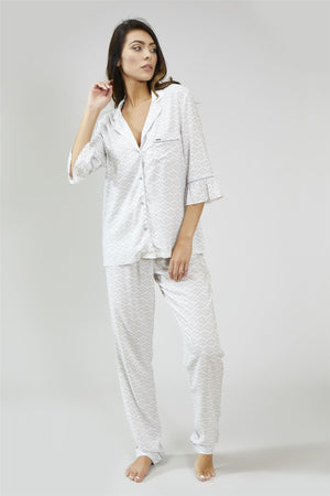 Nightwear Womens Nightwear Trousers - Romance in White from Pretty You London