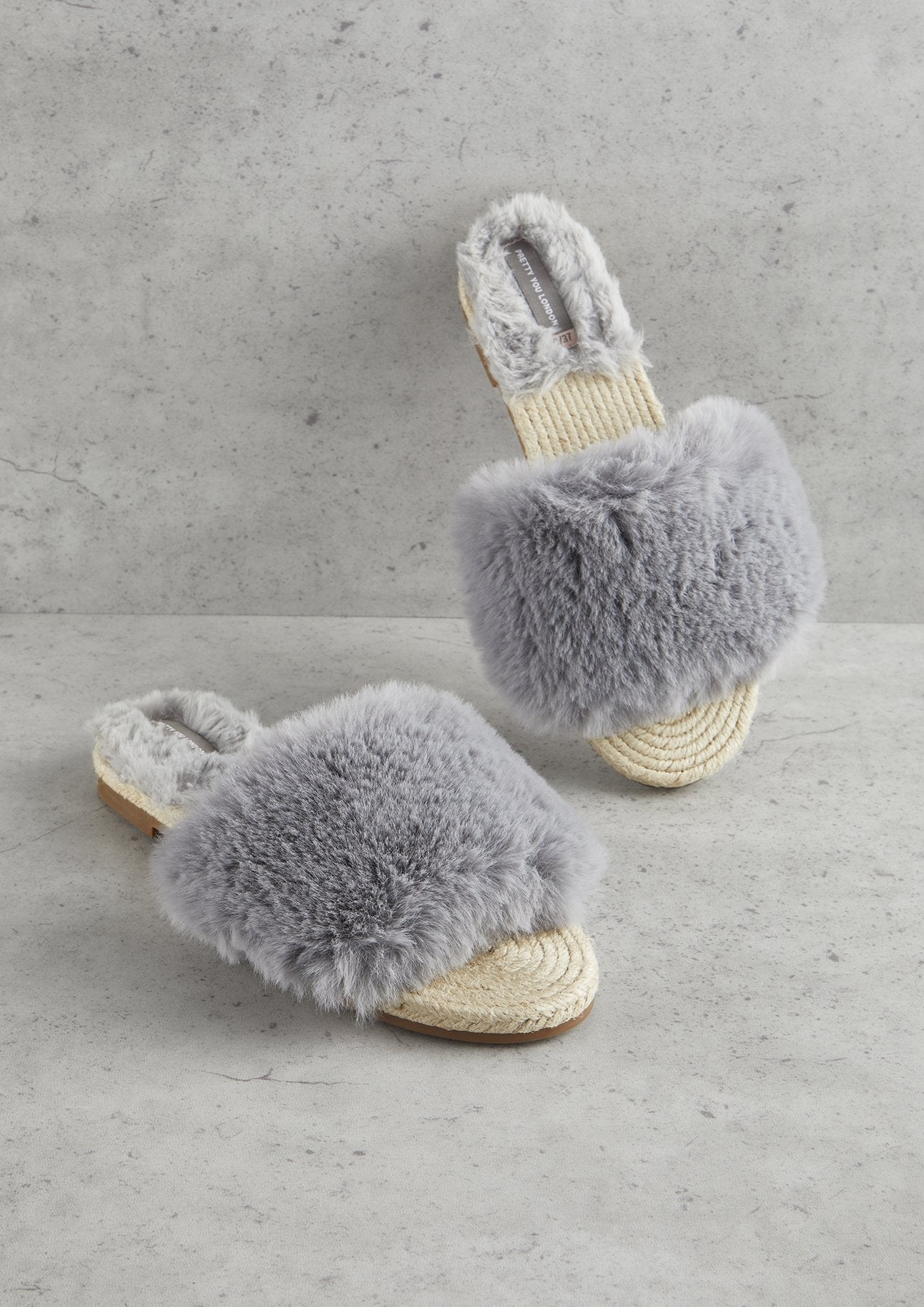 665946004e82 Womens Grey Sliders Sandals from Pretty You London – Pretty You ...