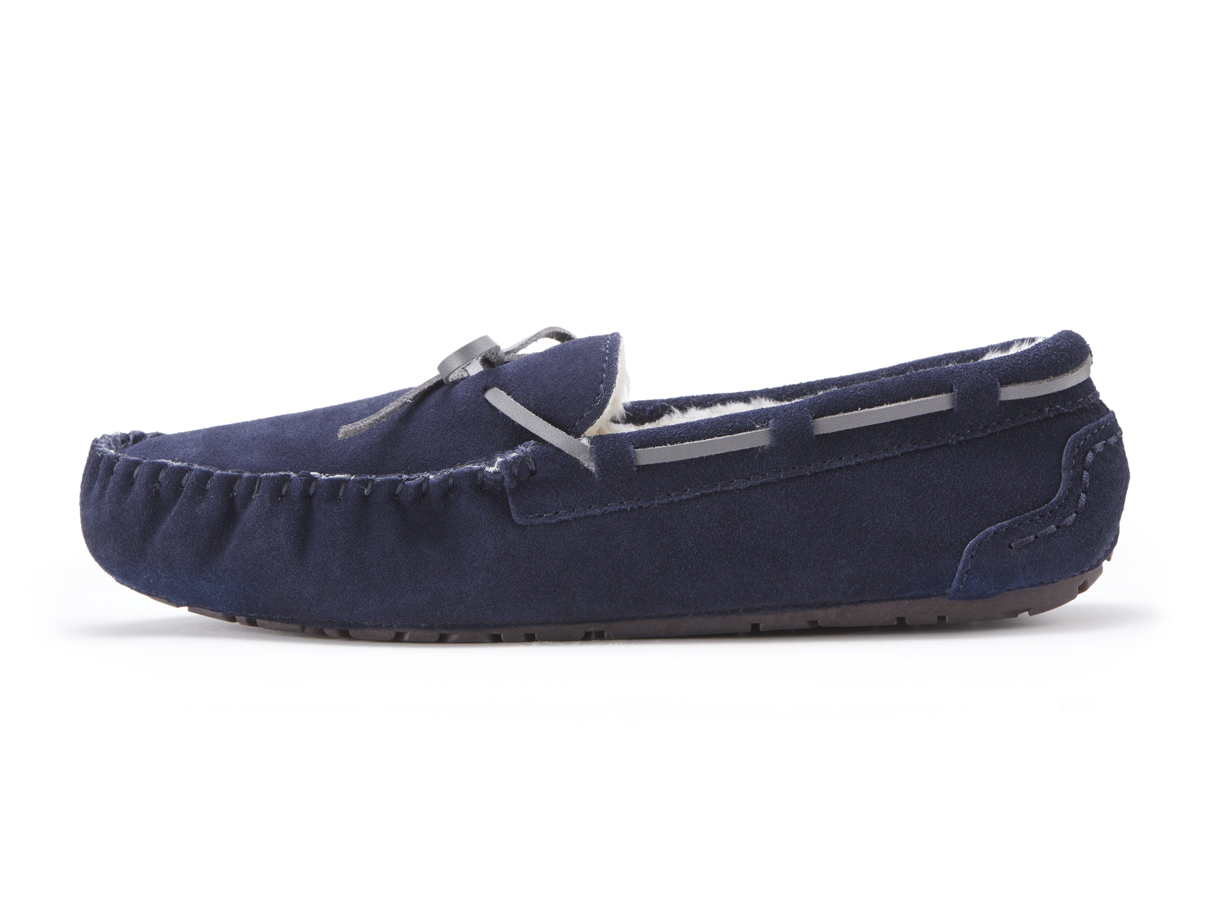 c5ad30d07b5 Mens Navy Suede Faux Fur Lined Slippers from Ugly Me London – Pretty ...