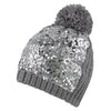 Accessories Silver Sequin Knit Beanie & Scarf Set from Pretty You London