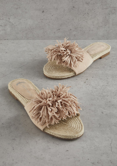 Sandals Womens Nude Tassel Sandal from Pretty You London