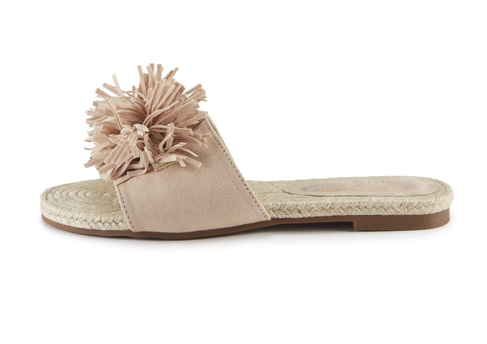 Load image into Gallery viewer, Sandals Womens Nude Tassel Sandal from Pretty You London