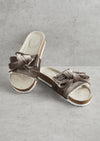 Sandals Mink Velour Bow Footbed from Pretty You London