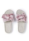 Pink Velour Bow Footbed