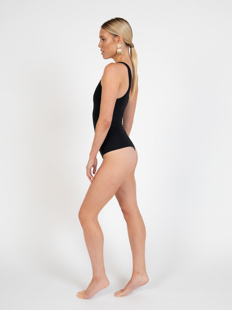 Portofino bodysuit in ebony