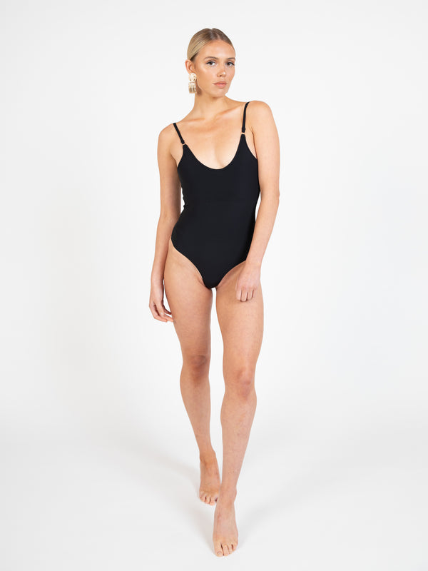 Sorrento bodysuit in ebony