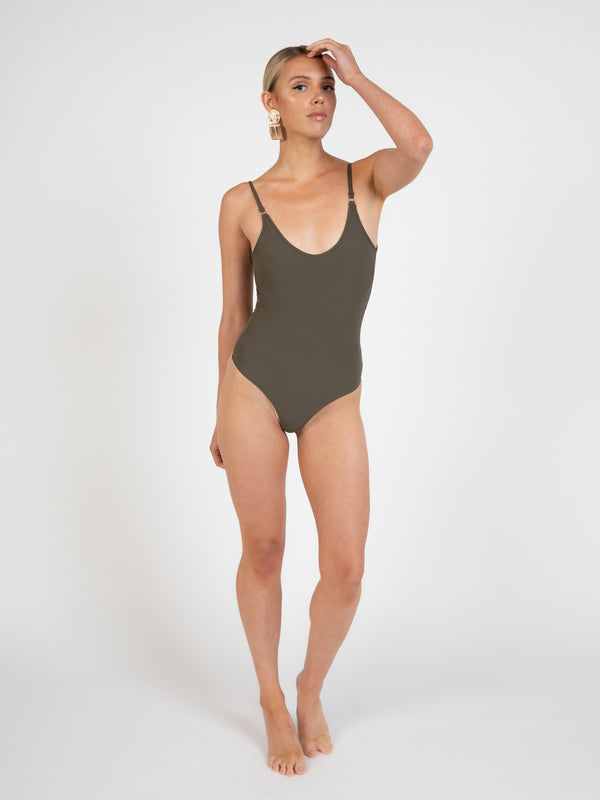 Sorrento bodysuit in khaki