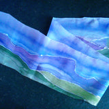 Blue Ridge Mountains Silk Scarf