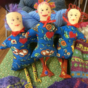 Crazy Cat Lady Folk Art Cat Toy