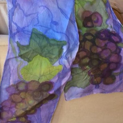 Grapes on the Vine Silk Scarf