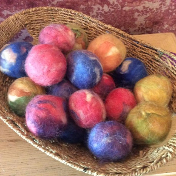 Mixed Rainbow Dryer Balls