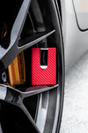 'Ferrari Red' Carbon Fiber Wallet