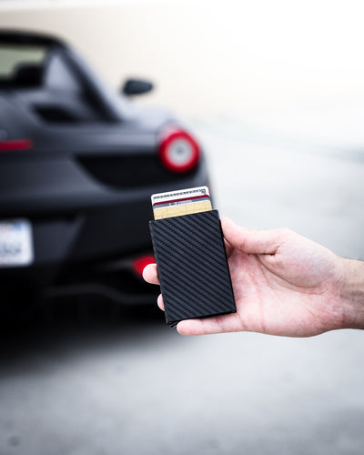 'Black' Carbon Fiber Wallet