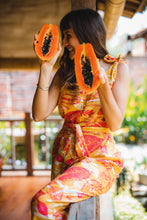 Load image into Gallery viewer, Tropical Mess Jumpsuit - Orange