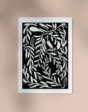 Load image into Gallery viewer, Funky Leaves Print - Black and White