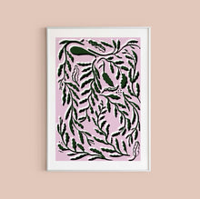 Load image into Gallery viewer, Funky Leaves Print - Pink