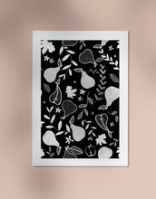 Load image into Gallery viewer, Pear Print - Black and White