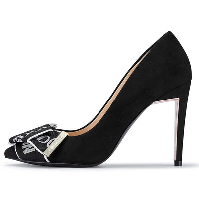 Eris Bowknot Stiletto Pump Suede Black