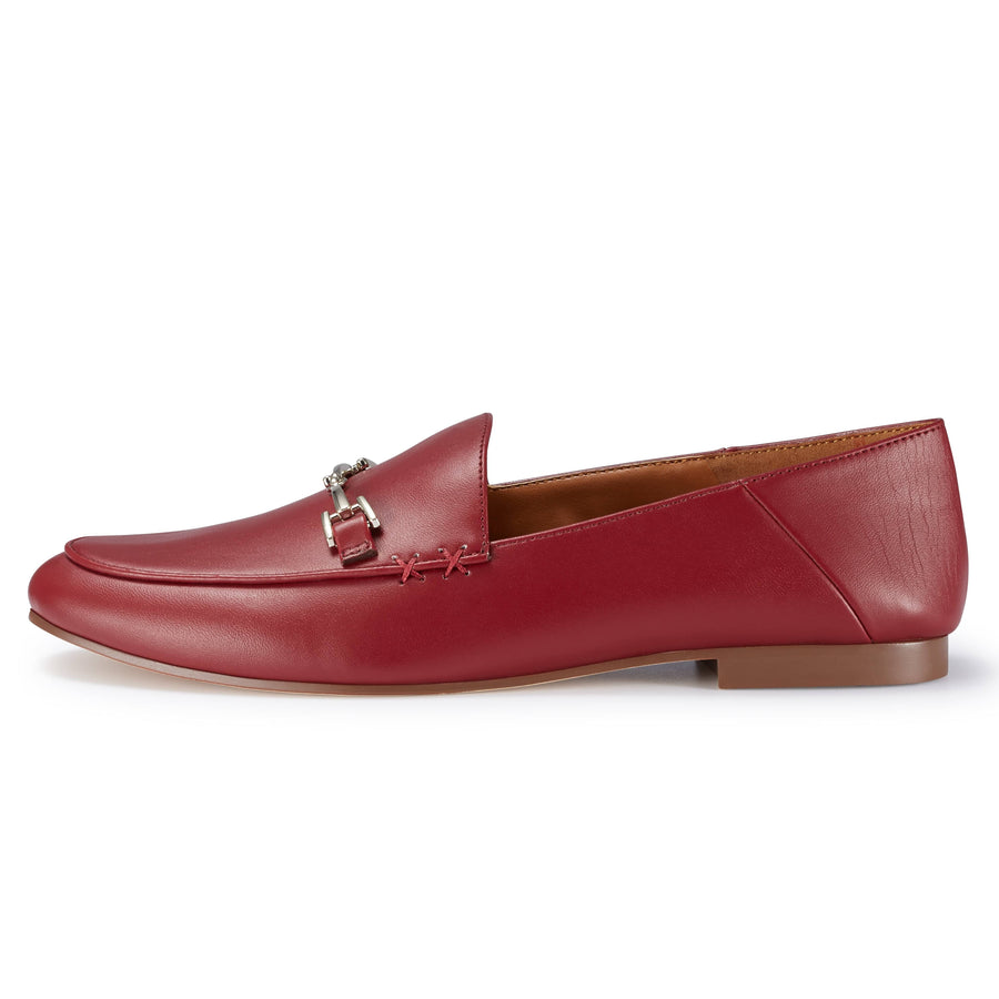 Hestia Loafer Flat Red