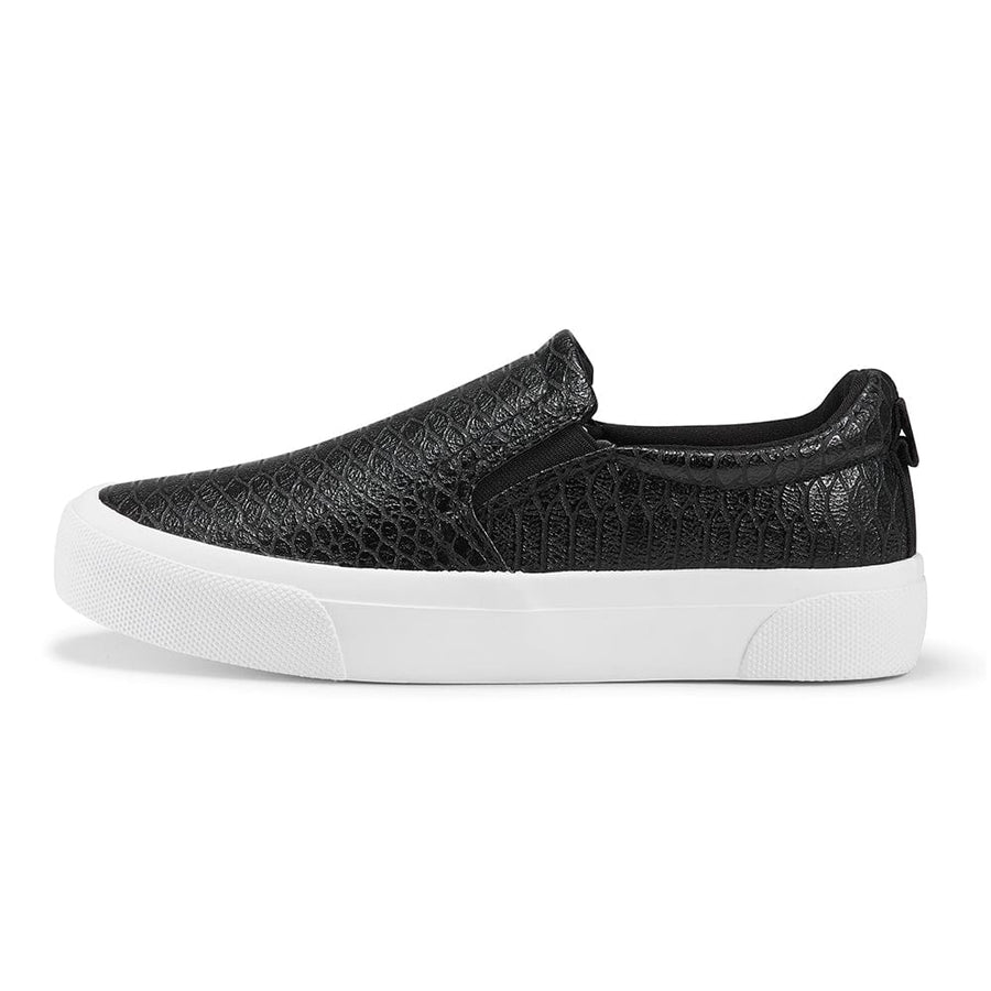 Sneakers Classic Slip on Flats Walking Sports Casual Shoes Sblack