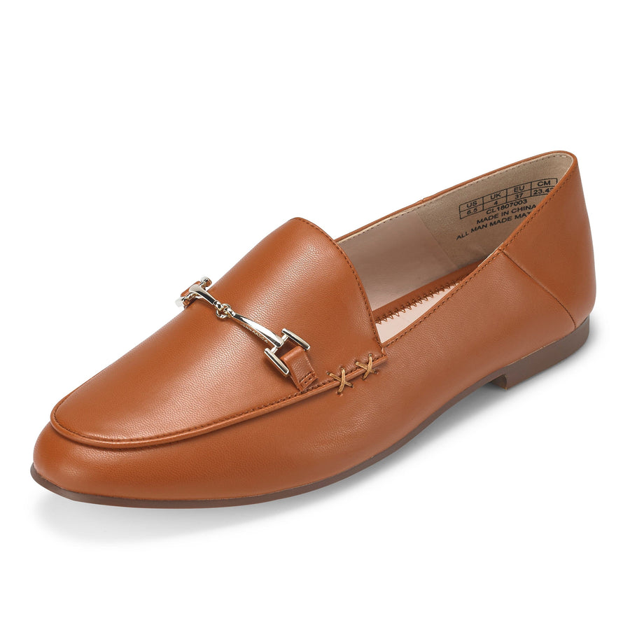 Hestia Loafer Flat Brown