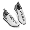 Sneakers Slip On Walking Shoes Casual Platform Shoes White