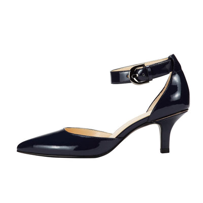 Nemesis Ankle Strap Pump Dark Blue