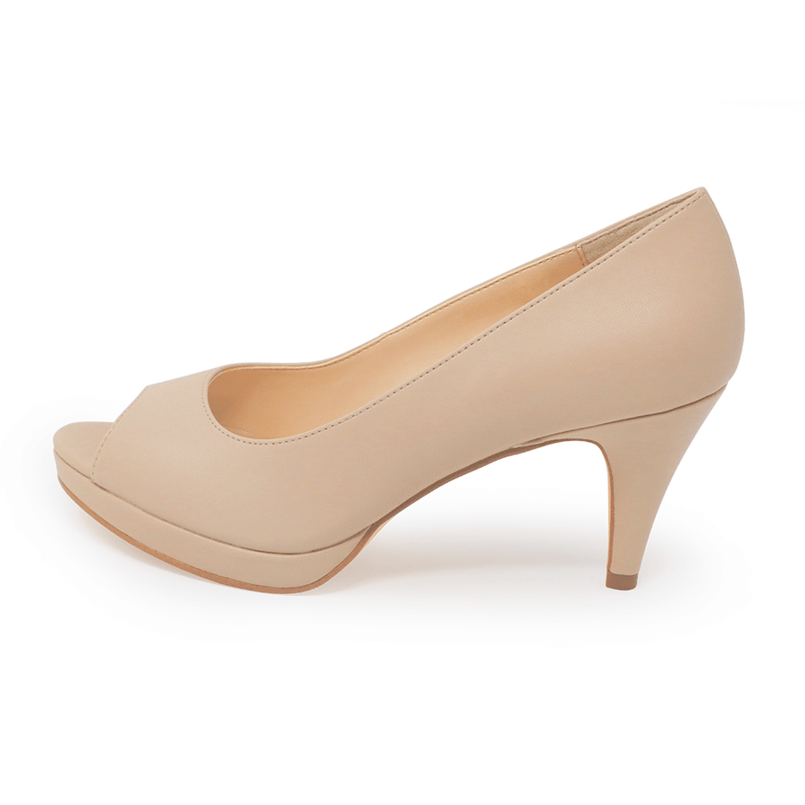 Asteria Peep Toe Pump Nude