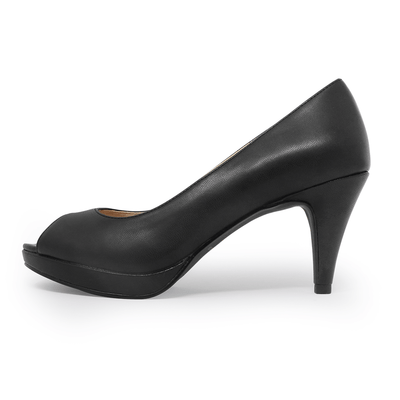 Asteria Peep Toe Pump Black