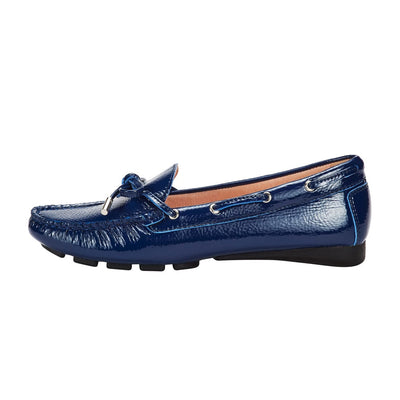 Bow-knot Dockside Shoes Blue
