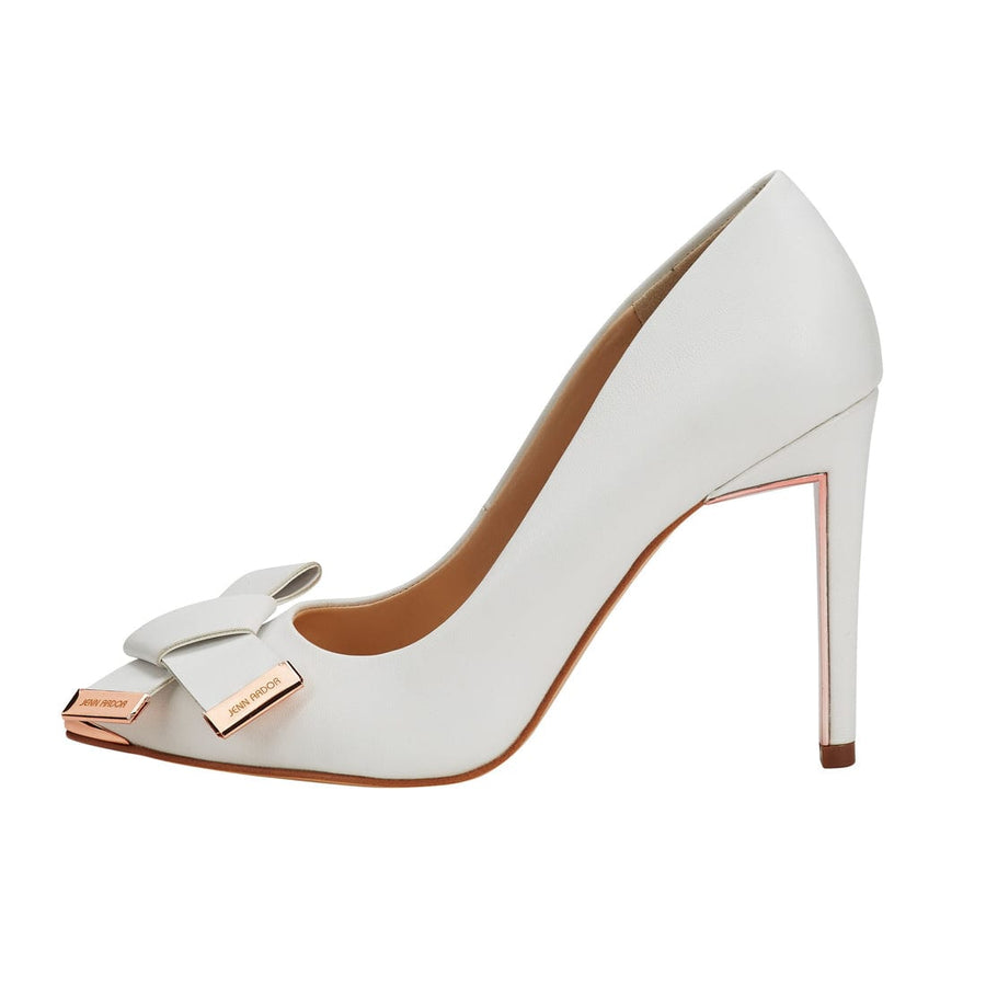 Eris Bowknot Stiletto Pump White