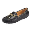 Graces Dockside Loafer Flat Black leather