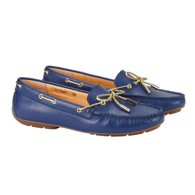 Graces Dockside Loafer Flat Blue