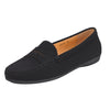 Muses Moccasin Loafer Flat Black Suede