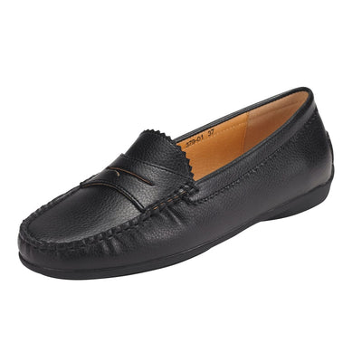 Muses Moccasin Loafer Flat Black