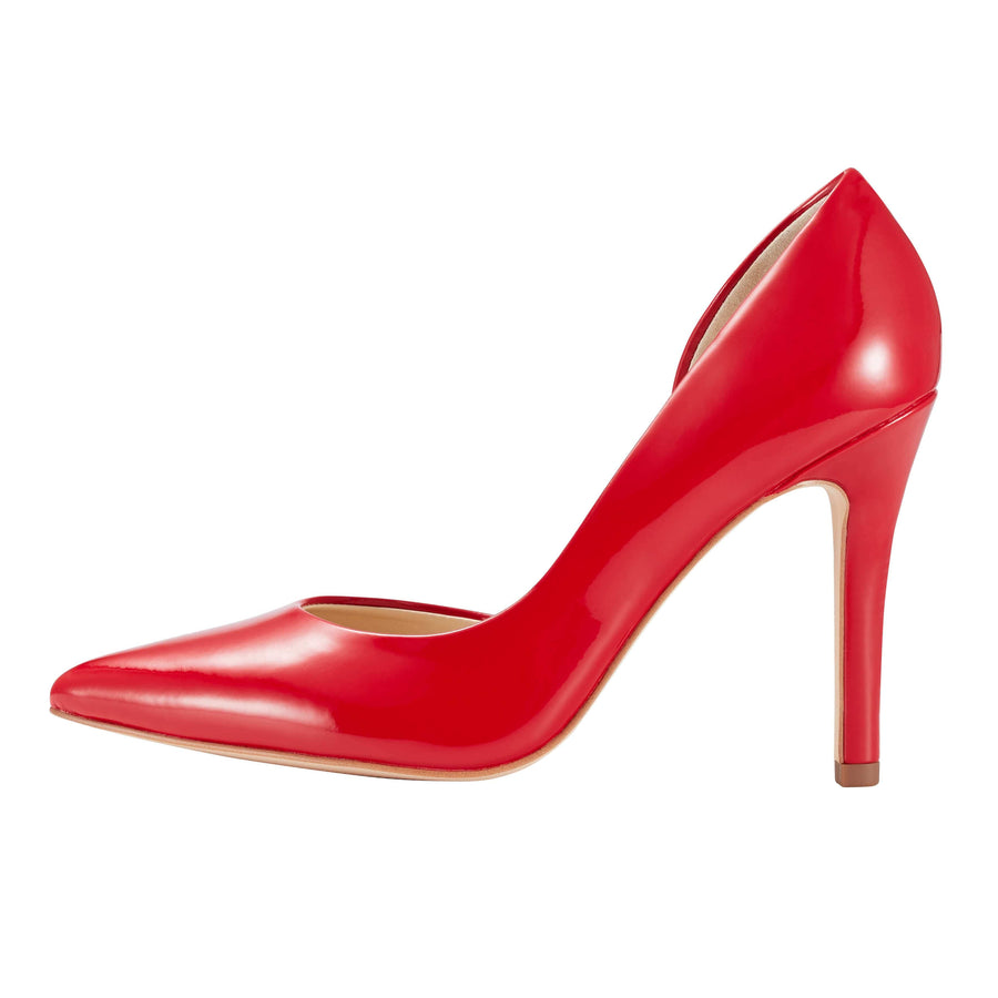 Melpomene D'Orsay Pump Mirror Red