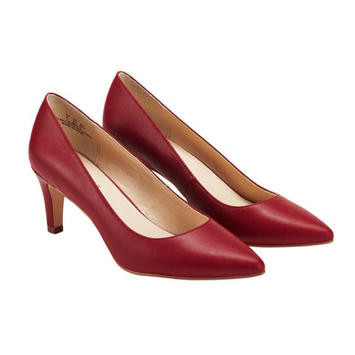 Philotes Mid Heel Pump Red