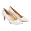 Philotes Mid Heel Pump White