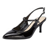 Hebe Slingback Pump Black