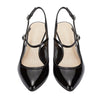 Mid Kitten Slingback Pump Black