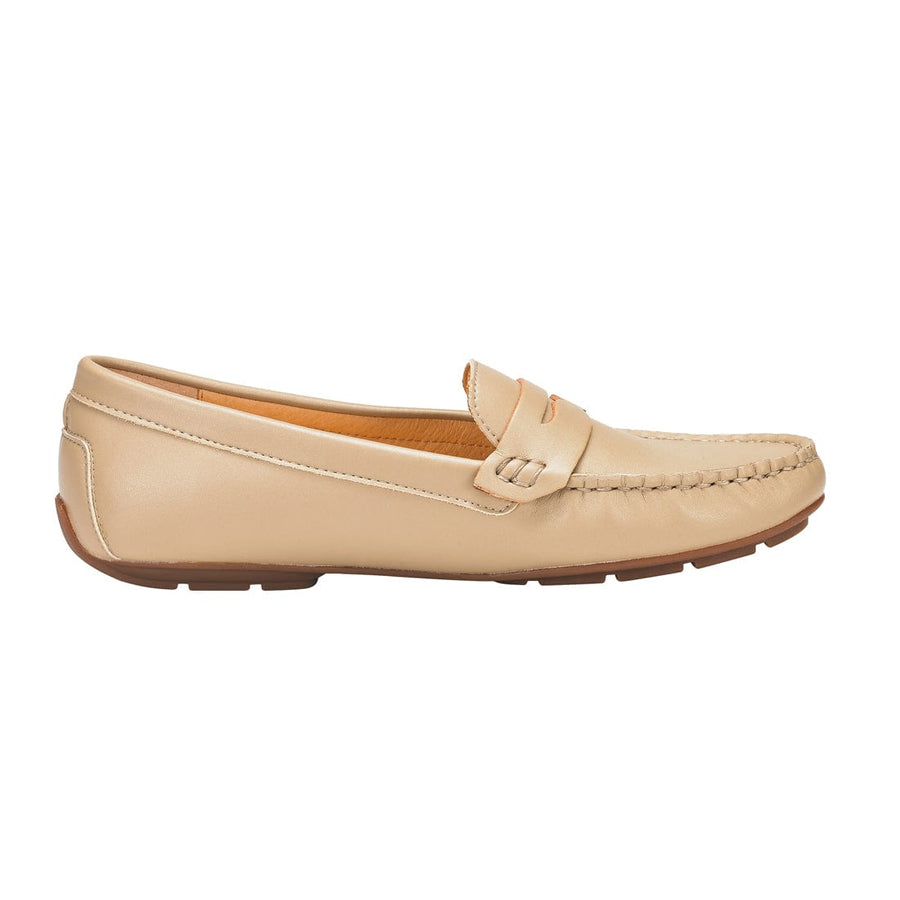 Aglaia Slip-On Moccasin Loafer Beige